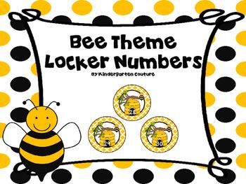 Bee Theme Numbers 1-30 FREE