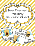 Bee Theme Monthly Behavior Chart (Editable)