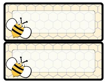Bee Theme Name Plates