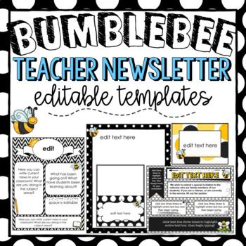 Bee Theme Newsletter Templates ~ Editable