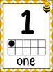 Bee Theme Number Posters 1-10