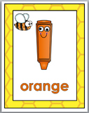 Bee Theme Classroom Decor Color Words Posters