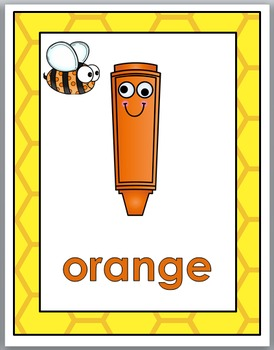 Color Words Posters - Bee Theme