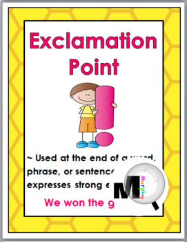 Bee Theme Classroom Decor Punctuation Posters