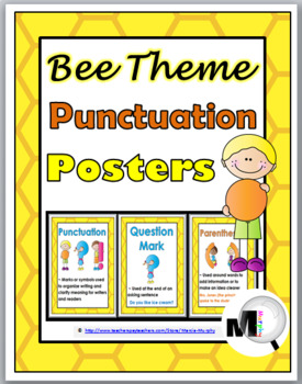 Bee Theme Punctuation Posters