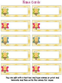 Reading Points by 5s Bee Theme