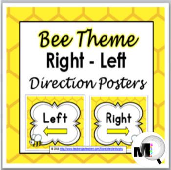 Bee Theme Classroom Decor - Right & Left Posters - Positio
