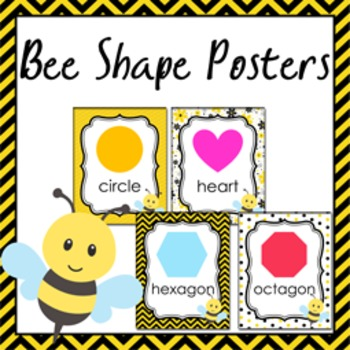 Bee Theme Shape Posters