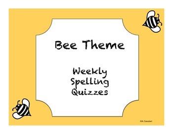 Bee Theme Spelling Quiz