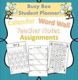 Bee Themed Student Planner for Improved Communication