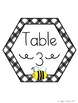Bee Theme Table Signs