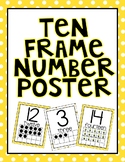 Bee Theme Ten Frame Posters