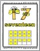 Bee Theme Ten Frame Number Posters - Numbers 1-30