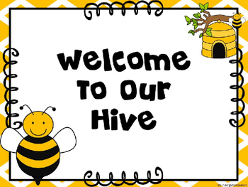 Bee Theme Welcome To Our Hive Editable 2311048 on Lesson Plans Free Printables