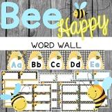 Bee Theme Word Wall {Editable}