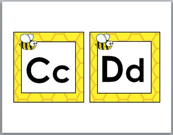 Bee Theme Classroom Decor Word Wall Headers with Primary Font