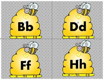 Bee Theme Word Wall Labels
