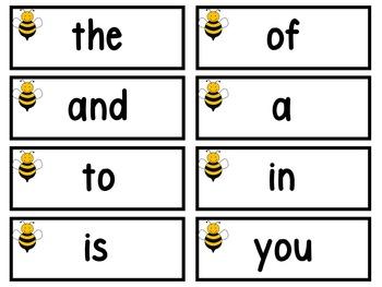 Bee Theme Word Wall -editable (circle version)