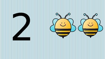 Bee Themed 1-10 Number Pack