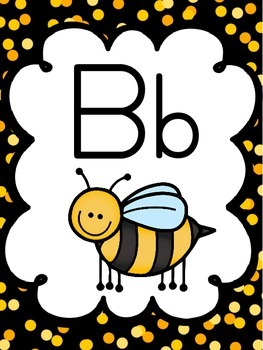 Bee Themed Alphabet