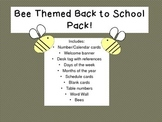 Bee Themed Back to School Pack