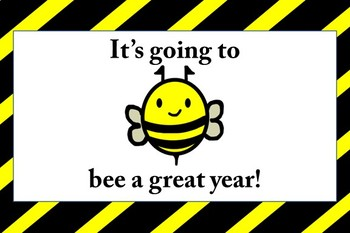 Bee Themed Beginning of the Year Cards