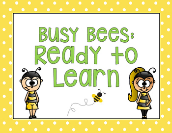 Bee Themed Behavior Clip Chart