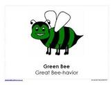 Bee Themed Behavior Clip Chart AND Take Home Behavior Chart
