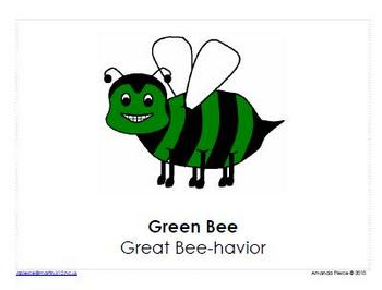 Bee Themed Behavior Clip Chart AND Take Home Behavior Chart