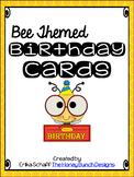 Bee Themed Birthday Cards