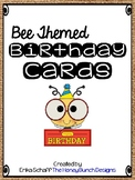 Bee Themed Birthday Cards with burlap