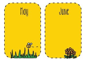 Bee Themed Birthday Chart