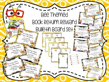 Bee Themed Book Return Reward Bulletin Board Set