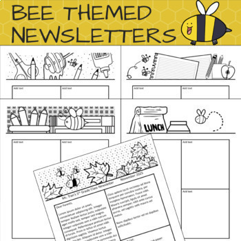 Bee Themed Bundle - Papers, Newsletters, Power Point, Templates