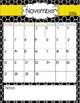Bee Themed Calendar