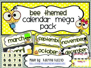 Bee Themed Calendar Pack