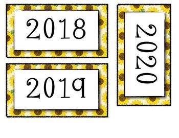 Bee Themed Calendar Set Extras