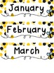 Bee Themed Calendar Set w/Days of the Week