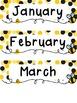 Bee Themed Calendar Set w/Days of the Week