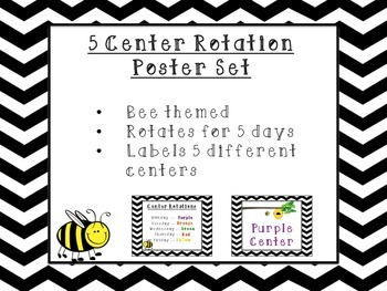 Bee Themed Center Posters