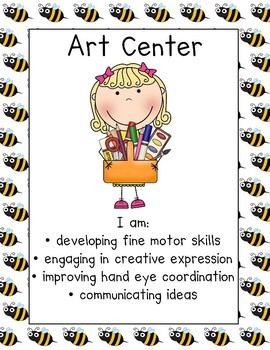 Bee Themed Center Signs