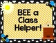 Bee Themed Class Jobs Signs Chart {Editable!}