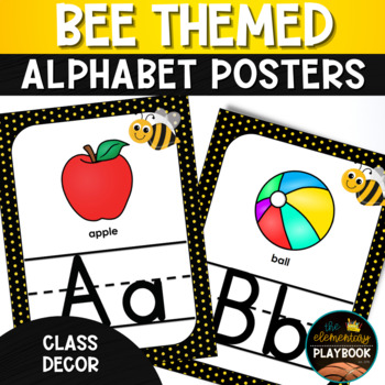 Bee Themed Classroom Decor Alphabet Posters
