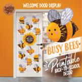 Bee Themed Classroom Decor   Welcome Back To School Door Decorations EDITABLE