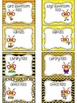 EDTIABLE Bee Themed Classroom Passes