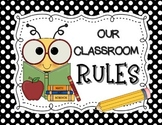 Bee-Themed Classroom Rules Posters