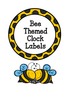 **FREEBIE**  Bee Themed Clock Numbers