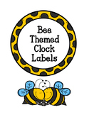 **FREEBIE**  Bee Themed Clock Numbers