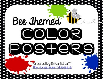 Bee Themed Color Posters