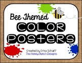 Bee Themed Color Posters Set 2 with burlap